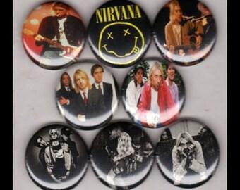 "8 Brand New 1"" ""Nirvana"" Button Set"