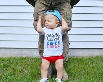 4th of July - shirt -  baby boy - bodysuit - toddler - american flag - kids - tshirt - unisex - boy - girl - red white and blue