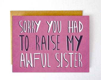 Funny Mother's Day Card, Funny Father's Day Card, Mother's Day Card, Funny Card for Mom, Funny Cards, Funny Card for Dad, Greeting Cards