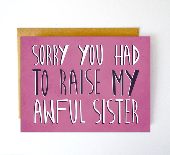 Funny mothers day card funny fathers day card m4hsunfo