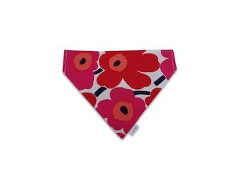 Red Reversible Scarf in Marimekko Fabric