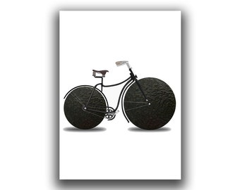 Avocado Bike Art, Bicycle Wall Art, Kitchen Wall Art, Bicycle Art, Bicycle Wall Decor, Avo Print, Avocado Print, Healthy Lifestyle Art