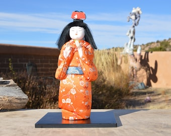 Black haired Geisha doll from Japan