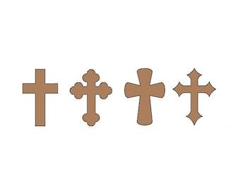 Paper Cross - Any Color - Cross Die Cuts - Paper Crosses - Crosses - Religious Die Cuts - Kraft Cross - Baptism Die Cuts - Baptism Decor