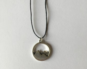 Handmade Mountain Tibetan Silver Necklace Choker