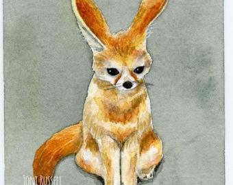 Fennec Fox, original ACEO