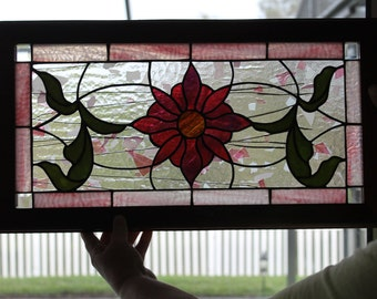 Flower Stained Glass Panel