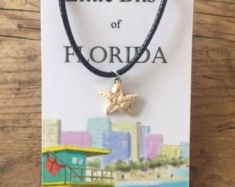 Florida Starfish Necklace Kiln Fired Clay