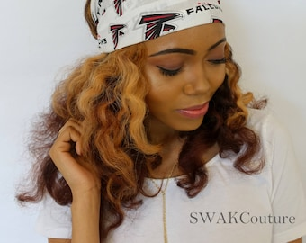 Atlanta Falcons Headband Wide Cotton Head Wrap Football Basketball Sports Head Scarf - CHOOSE Your Team