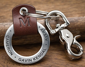 Personalized Dad Keychain, New Dad Gift, Dad Keychain, Fathers Day Keychain, First Fathers Day | ANY TEXT 35 chars, Made in USA