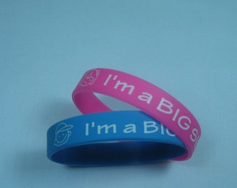 Silicone (10pk) Bracelet I'm a BIG Sister/Brother