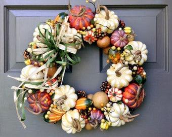 Natural Pumpkin Wreath (large)