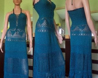 Damen Strick Kleid Lichtfarbe