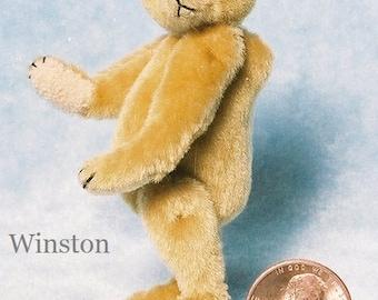 Winston Miniature Teddy Bear Kit - Pattern - by Emily Farmer