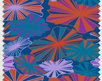 Fabric in Brella's Pattern Ruby Orange color