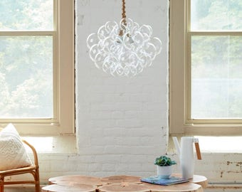 "The 31 Bubble Chandelier (22"" diameter) • Custom Chandelier • LED lighting • Dining Room Chandelier • Ceiling Light • Bubble Light"
