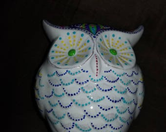 Hand painted decorative owl