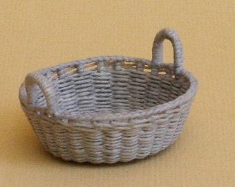 Dollhouse miniature, Wicker storage basket, scale 1 : 12, WC/309