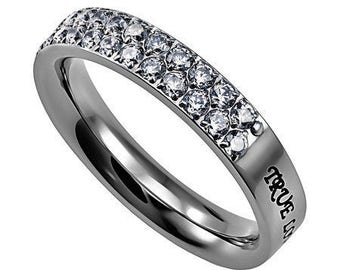 "Women's Covenant Ring ""True Love Waits"""