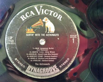 1964 Surfin' with the Astronauts RCA Victor Record Bowl
