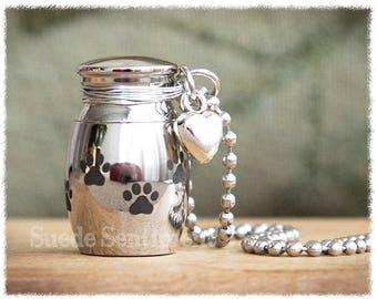 Pet Urn Necklace • Pet Cremation • Loss Of Dog • Pet Remains • Pet Loss • Loss Of Dog • Loss Of Cat • Dog Urn Jewelry