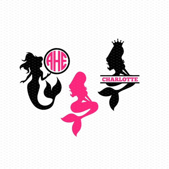 Mermaid Svg Mermaid Monogram Svg Mermaid Svg Files Split