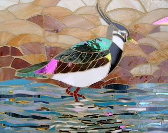 Lapwing Peewit Greetings Card - Mosaic Art - Birthday Card - Greetings Card Him - Lapwing Card - Bird Card - Seabird Card - Bird Art