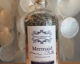 Mermaid Bath Detoxifying Seaweed Soak with Essential Oils and Himalayan Pink Salt