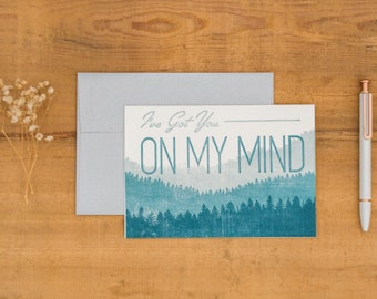 On My Mind -- Letterpress Card