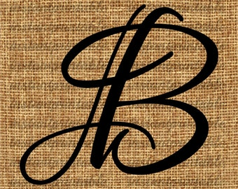 All letters of alphabet calligraphy bundle monogram