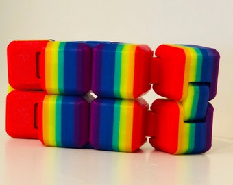 Rainbow Fidget Cube - Fidget Toy - Infinity Cube - Fidget Widget - Stress Relief - 3D Printed - Fidget - Fidget Box