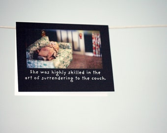 Napping Card Antique Porcelain Doll Claudia Nap Humor Photography Surrendering To The Couch