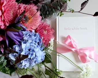 little white book wedding organiser journal and diary