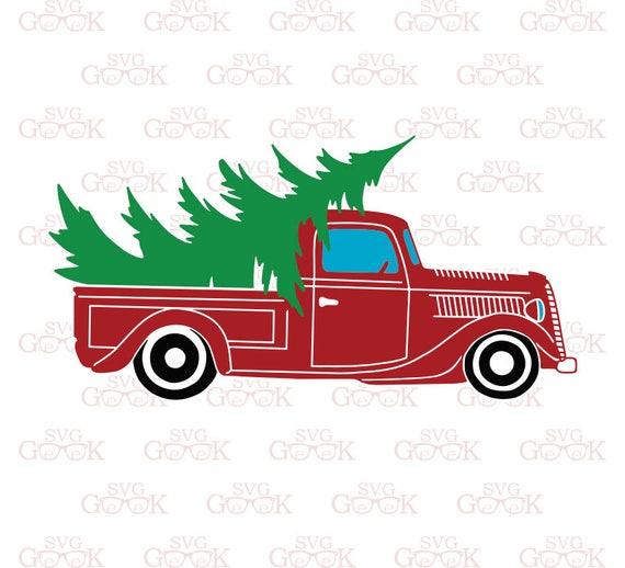 Christmas Truck Svg Vintage Truck Svg Christmas Tree