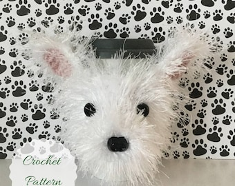 Crochet Pattern Westie Dog Mug Cozy, Dog Crochet Pattern, Crochet Pattern Dog, Amigurumi Dog, Fun Crochet Pattern, Dog Cozies Patterns