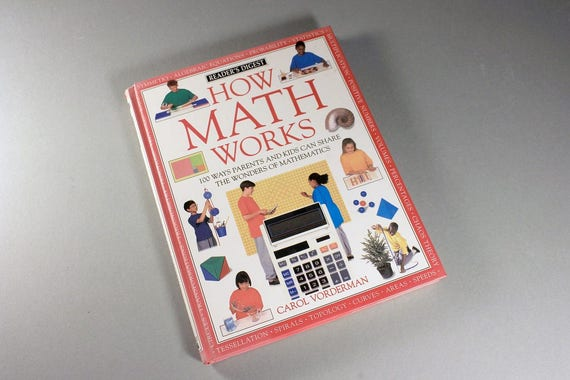 Children's Hardcover Book, How Math Works, Carol Vorderman, Educational Book, Non-Fiction, Learning Tool