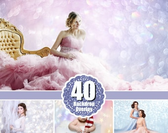 40 Backdrop background texture bokech (overlays, overlay, lights, lights) Photoshop, christmas, holliday, wedding, photo session, jpg
