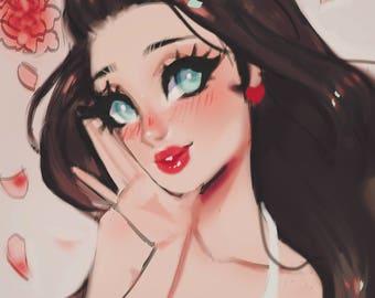 Social Media Profile Painting Icon & Avatar / Instagram Icon / Tumblr Icon / Facebook Icon / Twitter Icon / Insta Avatar / Profile Picture