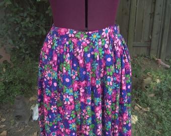 CLEARANCE Maxi Skirt Floral Maxi Skirt Mod Skirt Psychedelic Maxi Skirt 1960s Maxi Skirt 1970s Maxi Skirt 60s 70s Maxi Skirt Festival Skirt