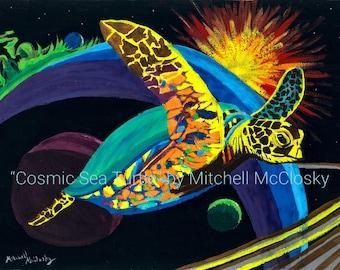 Cosmic Sea Turtle - Print (No Frame)