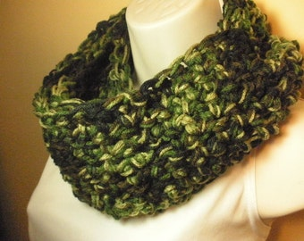 Camouflage Cowl Infinity Circle Scarf Neckwarmer