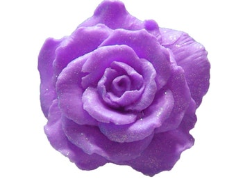 Rose Soap  - Organic Soaps - Purple Soaps -  Decorative Soaps -  Gift Soaps  -  Moisturizing Soap  -  Essential Oil Rose