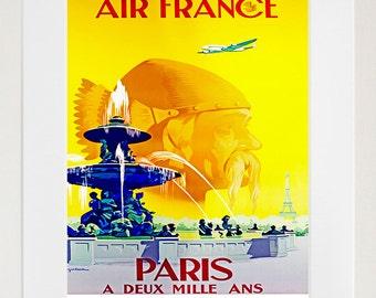 Art Paris Travel Poster Viking Vintage Print (ZT161)