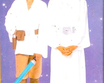 Kids Star Wars Sewing pattern Princess Leia Luke Skywalker costumes Out of print Butterick 5174 UNCUT May the fourth