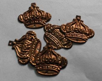 10  bronze crown shape  Sequins/100% Metal base/KBMS681