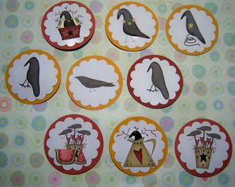 Primitive Crow Tags Set
