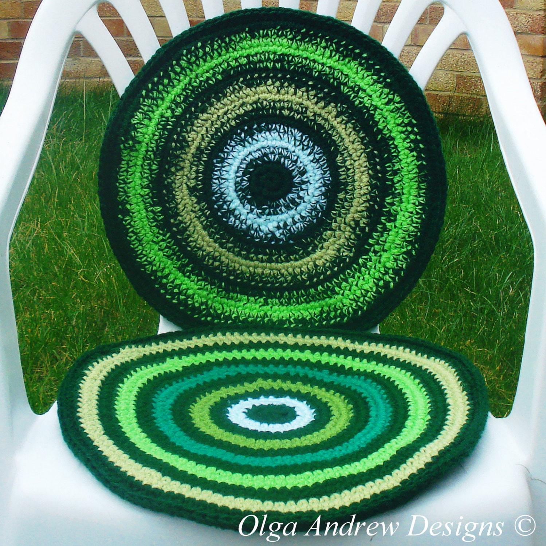 Chair seat cushion crochet pattern chair pad crochet pattern cushion ...