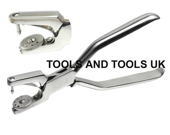 Heavy Duty 7 Jewelry Rotatory 5 Hole Punch Pliers Metal Leather Sheets Tool