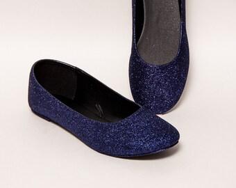 Glitter -  Deep Purple Shadow Ballet Flat Slipper Shoes