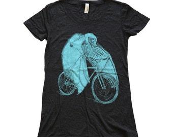 Ladies - Bat on a Bicycle - T Shirt  Womens SIZE S M L Xl